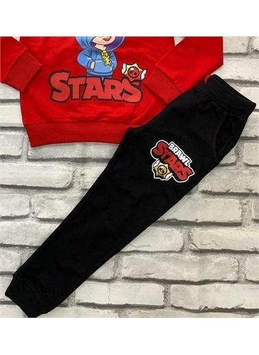 Riccotarz Erkek Çocuk Brawl Stars Kırmızı Eşofman Takım Renkli